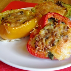 Easy stuffed breakfast peppers