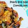 Spatchcocking and Peach Soy Glazed Cornish Hen