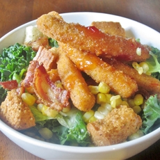 Easy Family Dinner Salad and Snacktime Dip