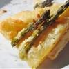 Garlic & herb fontina asparagus tart