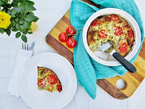 Easy Grilled Chicken and Egg Bake (no grilling involved!)