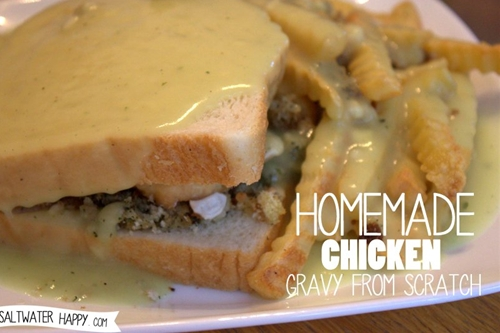 homemade chicken gravy from scratch