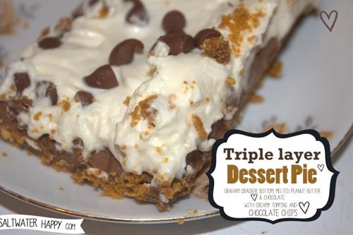 Triple layer dessert