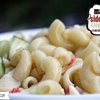 macaroni side salad with ranch dressing, cucumber,