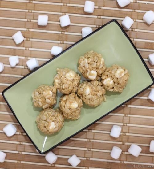 Marshmallow Peanut Butter Snack Bites