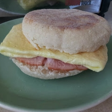 Lazy Egg Breakfast Sandwich