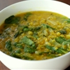 Red Lentil Soup with Spinach and Lime