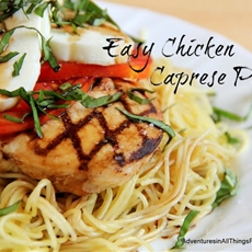 Easy Chicken Caprese Pasta