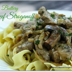Buttery Beef Stroganoff