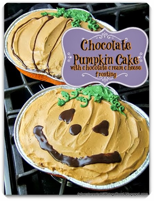 Chocolate Pumpkin Cake with Chocolate Cream Cheese Frosting