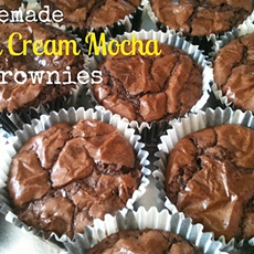 Homemade Irish Cream Mocha Brownies – #IcedDelight
