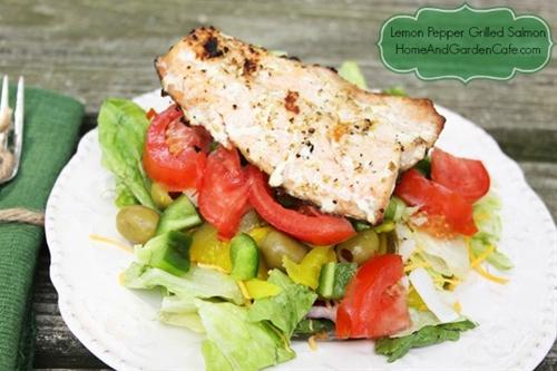 Lemon Pepper Grilled Salmon recipe | Chefthisup
