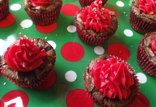 Chocolate-Cherry Brownie Mini-Bites! #CBias