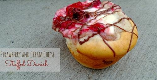 Strawberry and Cream Cheese Stuffed Danish