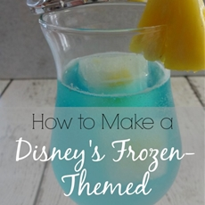 The Elsa Cocktail - Disneys Frozen Inspired Sangria