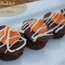 White Chocolate and Pumpkin Spice Brownie Bites