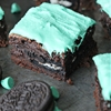 Oreo Stuffed Mint Chocolate Brownies