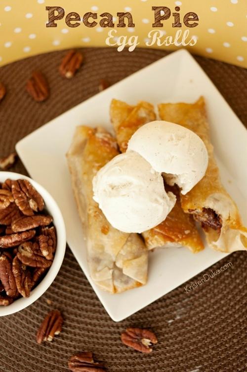 Pecan Pie Egg Rolls