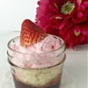 Strawberry Trifle for Two with Homemade Strawberry Whipped Cream