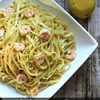 Garlic Lemon Pasta with Roasted Shrimp