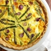 Asparagus, Goat Cheese and Pearl Onion Quiche