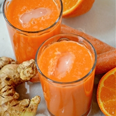 Carrot, Tangelo & Ginger Juice