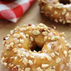 Caramel Apple Baked Donuts