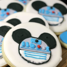 R2-D2 Mickey Mouse Cookies