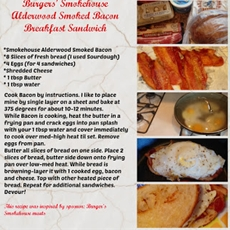 Smokehouse Alderwood Smoked Bacon Breakfast Sandwich recipe