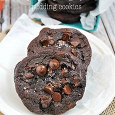 Hershey's Special Dark Triple Chocolate Pudding Cookies