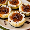 Salted Caramel Chocolate Chip Cheesecakes