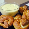 Soft Pretzels with Jalapeno Cheese Sauce