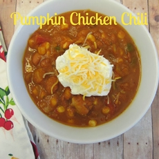 frugal family tree: pumpkin chicken chili