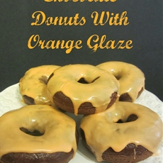 Homemade Chocolate Donuts with Orange Glaze