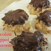 Chocolate dipped macaroons