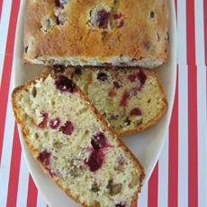 Christmas cranberry walnut bread