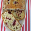 Christmas cranberry walnut bread