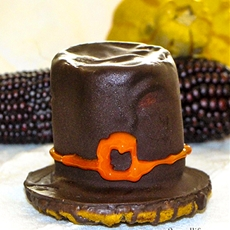 Thanksgiving treats – simple and easy: pilgrim hat