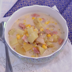 Ham and Corn Chowder from Cosmopolitan Cornbread