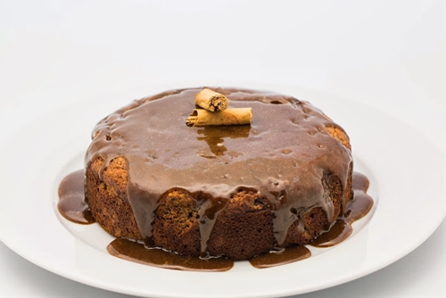 Gluten Free Date Cake with Caramel Sauce
