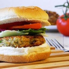 Vegetarian Burger. Vegetarischer Burger