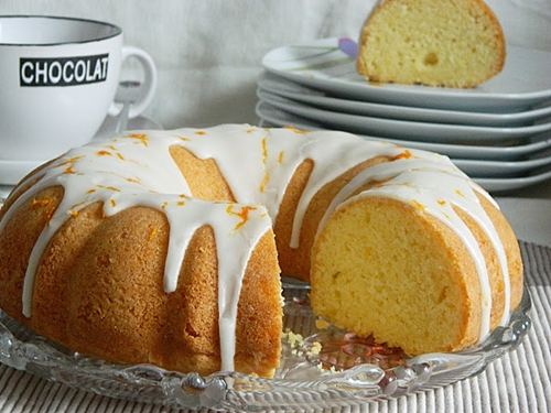 Orange Pound Cake. Orangen Rührkuchen