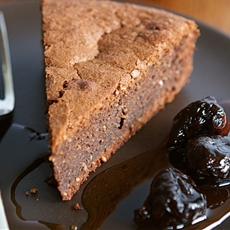 Chocolate Torte with Calvados-Poached Figs
