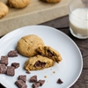 Chocolate-filled peanut butter cookies [Vegan, Gluten-free]