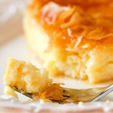 Custard filled pastry galaktompoureko
