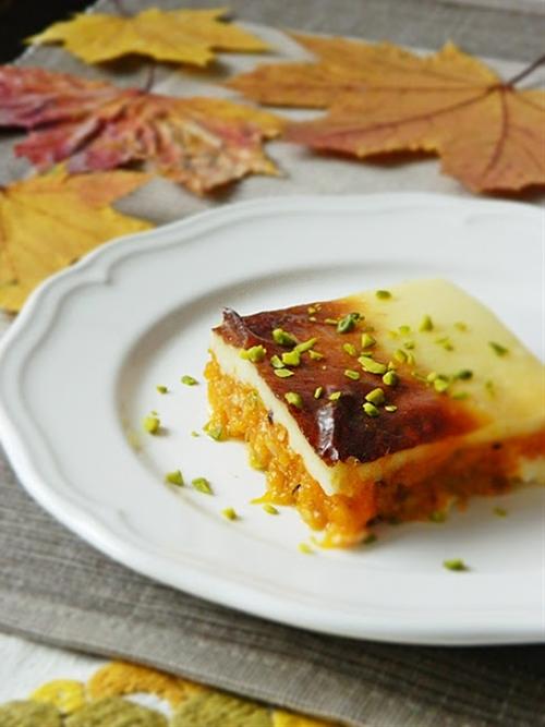 Pumpkin Cream Casserole. Kürbis-Creme-Auflauf