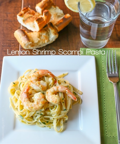 Lemon Shrimp Scampi Pasta — Tastes Lovely