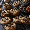 Chocolate, cherry & pecan cookies