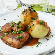 German Potato dumplings. Kartoffelklöße