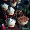 Christmas berry and tiramisu trifles
